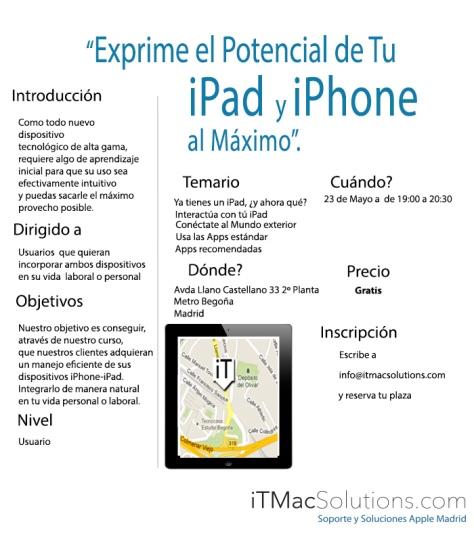 Curso Exprime el Potencial de Tu iPad e iPhone al máximo.